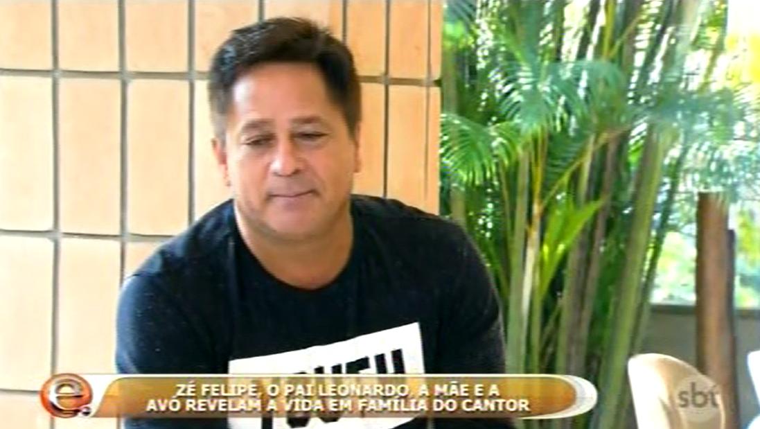 Leonardo Zé Felipe em programa da Eliana sbt/SP11 9 2016