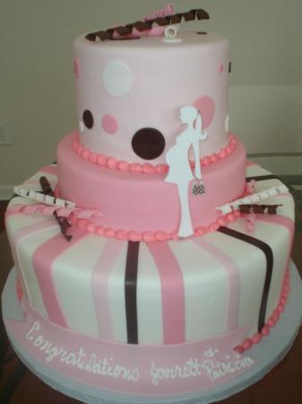 mod baby shower baby shower cake