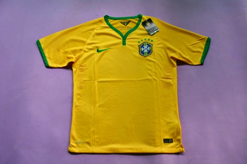 Jual Jersey Brazil Home Piala Dunia 2014