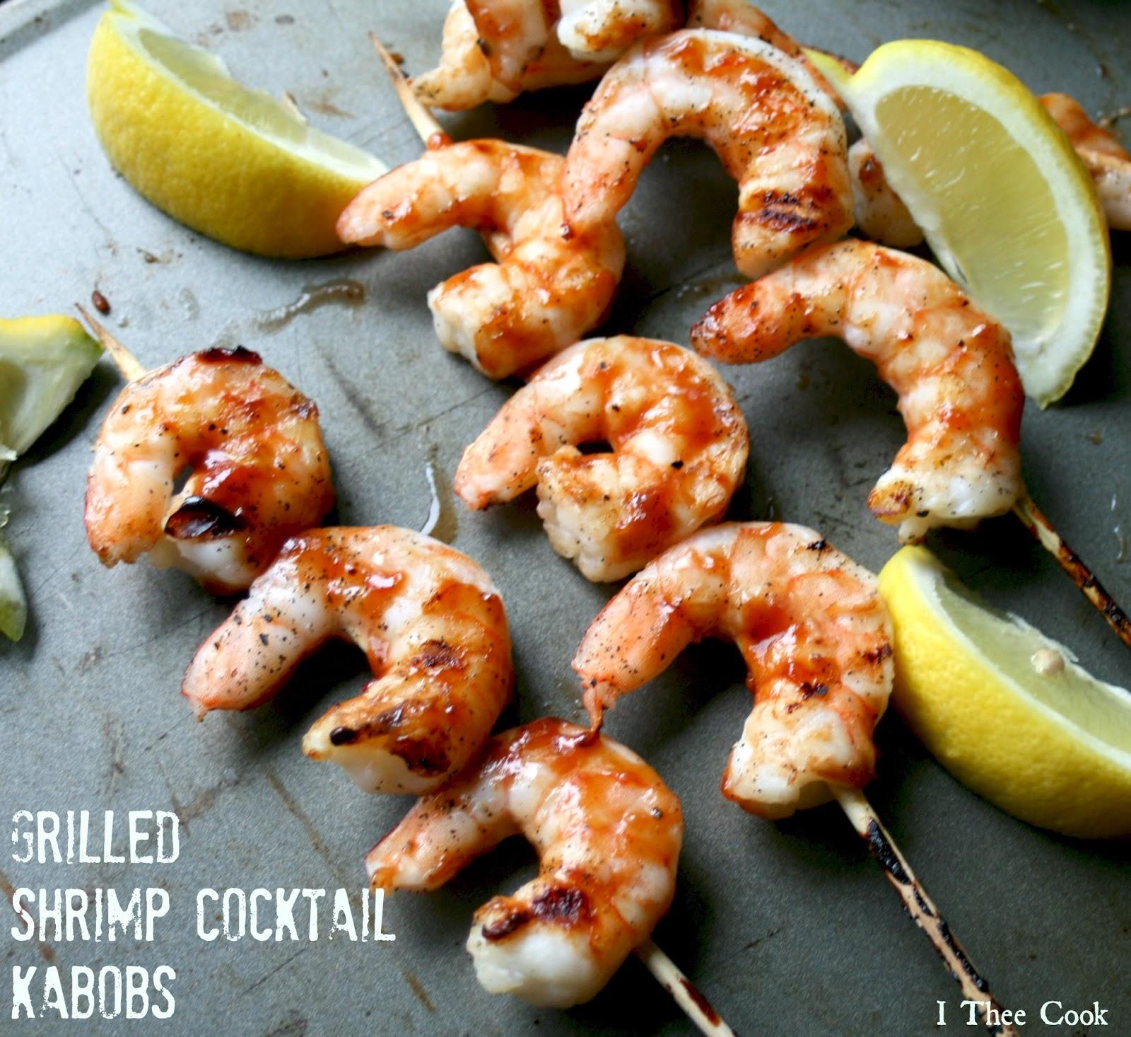 I Thee Cook: Grilled Shrimp Cocktail Kabobs