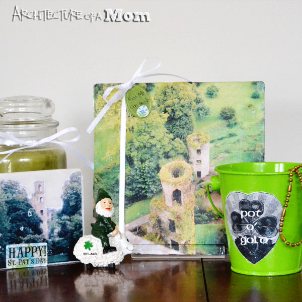 St. Patrick's Day Vignette with Mod Podge Photo Transfer
