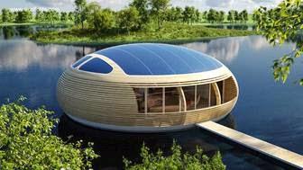 Casas flotantes ecológicas autosuficientes