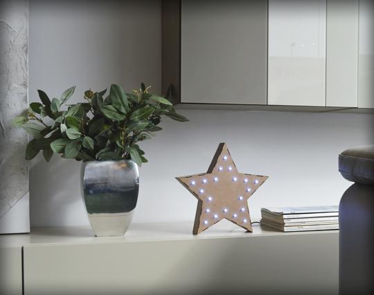 Estrella de cinco puntas decorativa