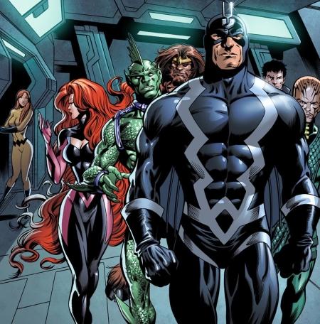 Viñeta de Los Inhumanos-Marvel