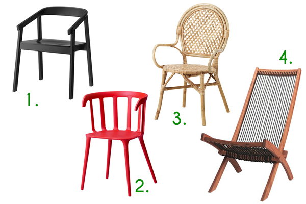 collection of Ikea chairs