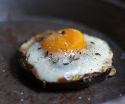... bake eggs portobello mushroom cap baked eggs herbs in baked eggs with
