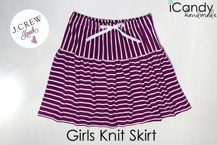 Knitting Skirt Girl : J crew knock off girls knit skirt icandy handmade