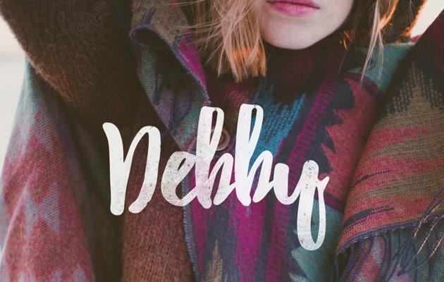 Brush font terbaik 2017 - Debby – Free Brush Font
