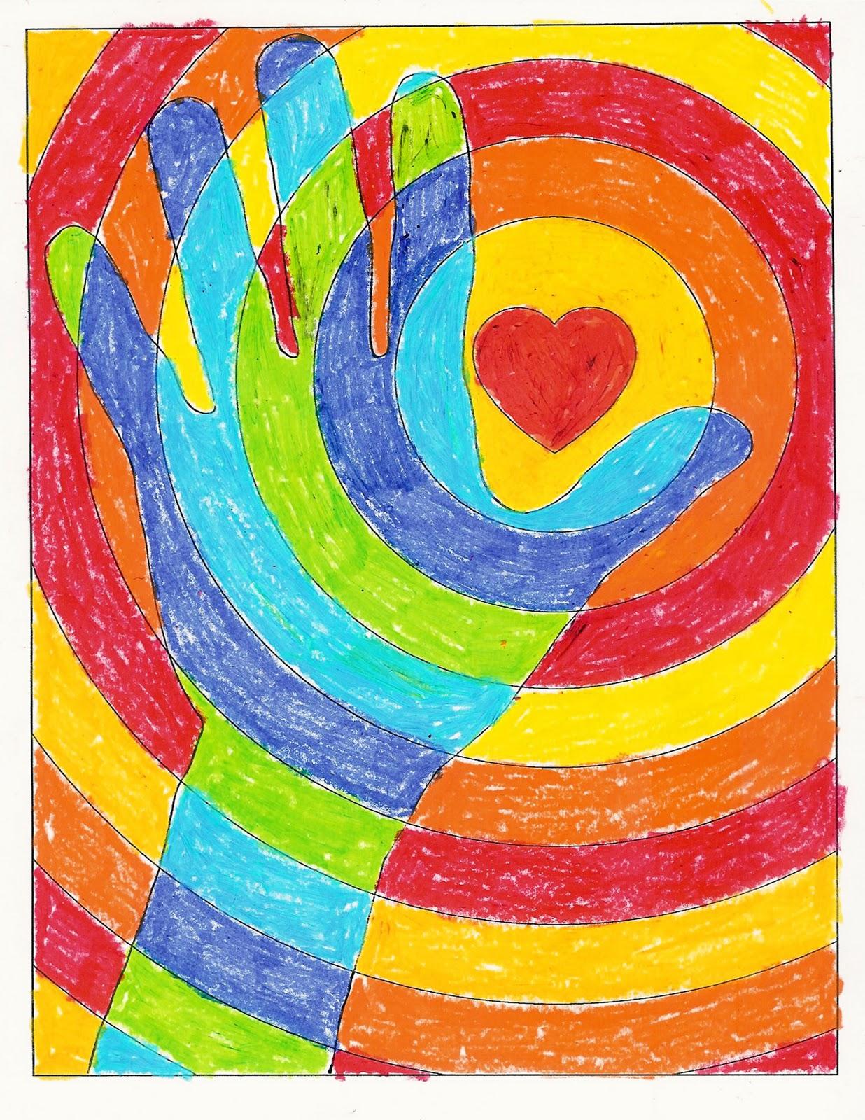 valentine art grade 4