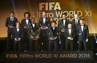 Senarai Pemenang Pemain Terbaik Bola Sepak Dunia 2015