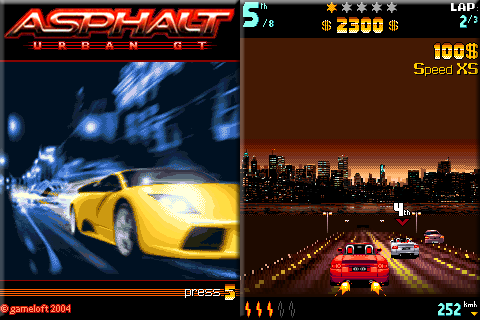 Asphalt 240 x 320 Touchscreen Mobile Java Game spacytrinity image