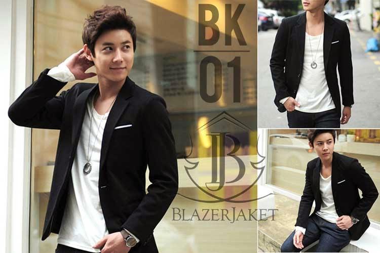 Korean Blazer Single Button Style blazerjaket.com