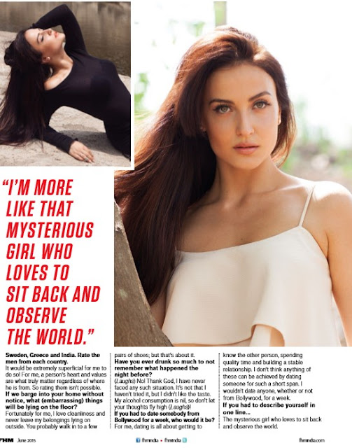Elli Avram Photoshoot for FHM Magazine June 2015