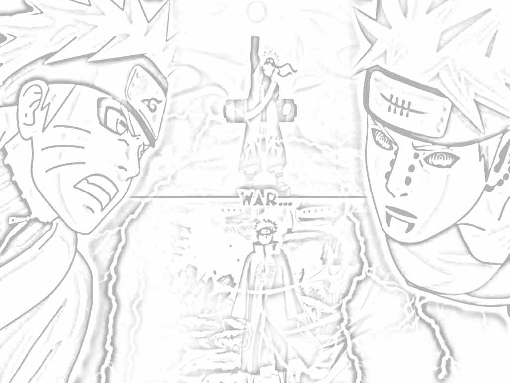 naruto shippuden pictures for coloring %