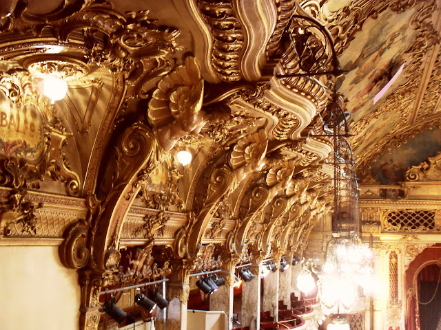 Blackpool Tower Ballroom ceiling and architecture