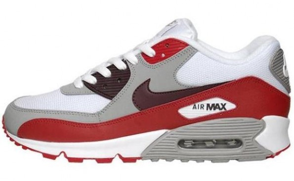 c4a362653d ... all words that come to mind when describing the Nike Air Max 90. Seen  here is a new colorway for the cultural icon set in a White/Deep Burgundy- Varsity ...