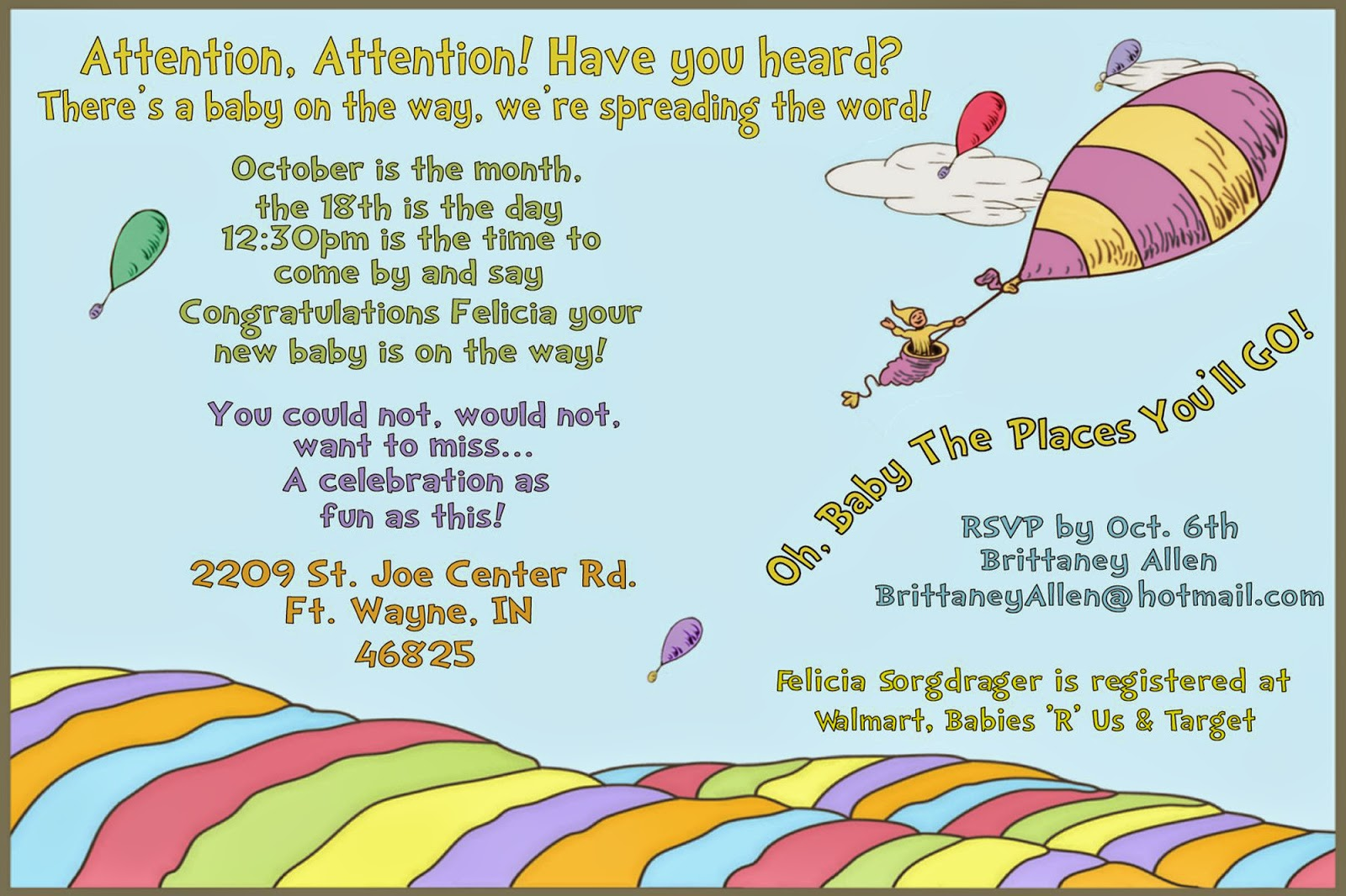 oh the places you ll go baby shower invitations, Baby shower