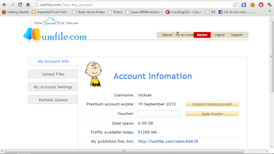 Lumfile Premium Account 23 september 2012 With Proof