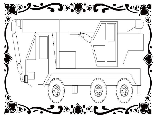 Construction Vehicles Coloring Sheets