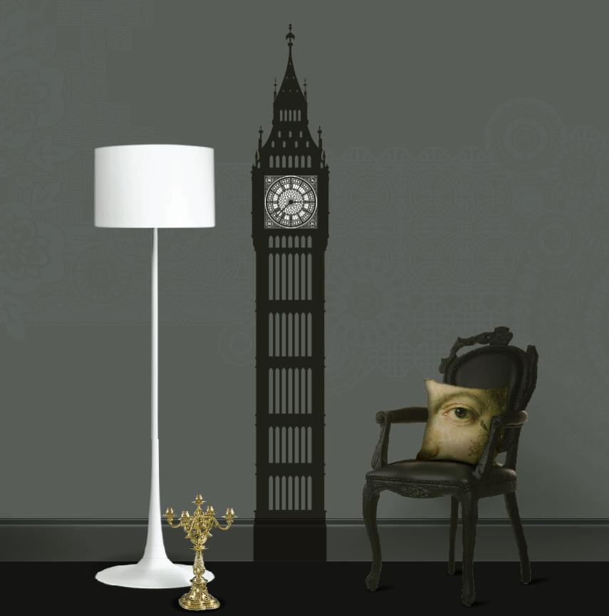 Gothic Big Ben wall clock