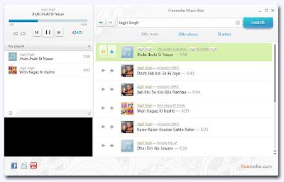Freemake Music Box, freewares, windows softwares, music software, online music , listen to online music ,