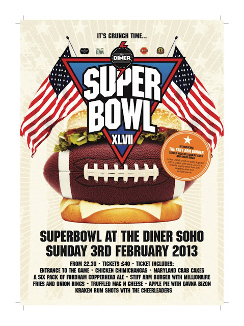 Stiff Arm Burger SuperBowl Flyer