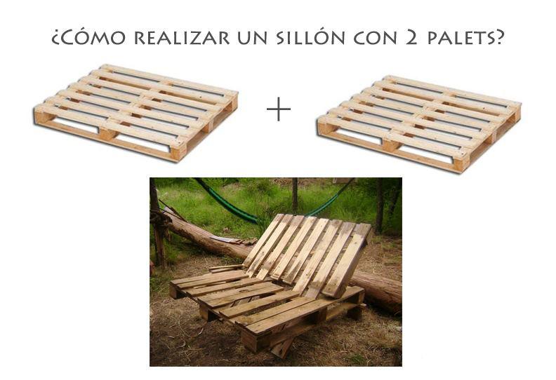 Como realizar un sillon con 2 palets de madera for Como hacer un sillon con una cama