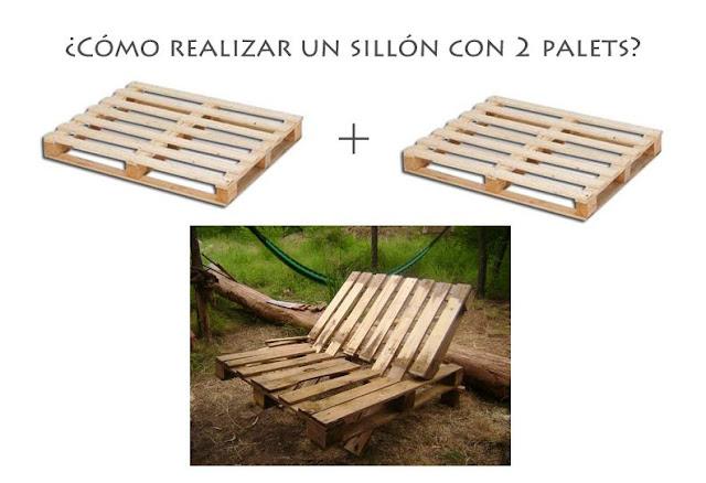 Como realizar un sillon con 2 palets de madera