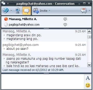 Pag-Ibig Chat Facility | aLwAyS a HaPpY dAy