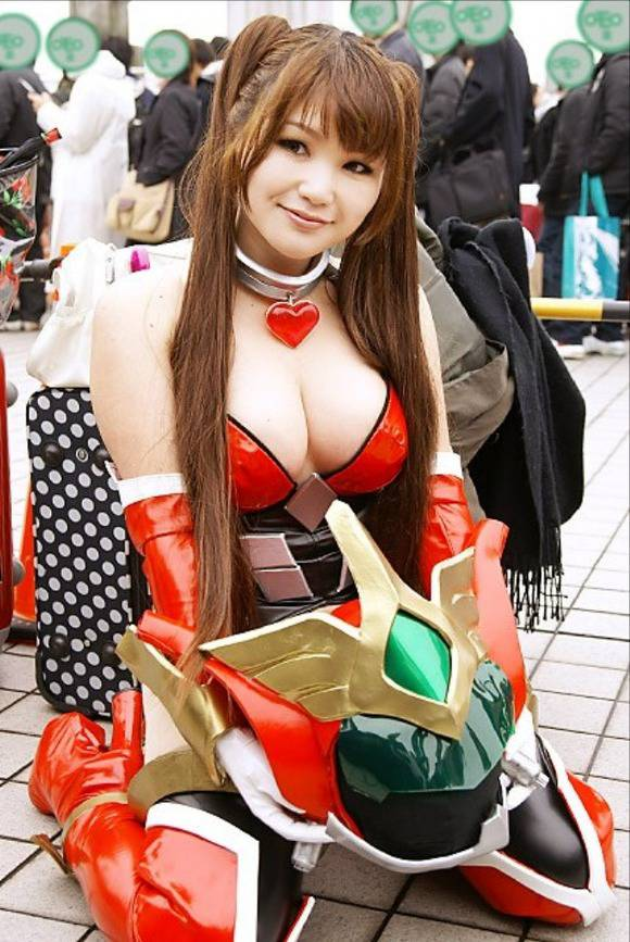 sexy asian cosplay boob cleavage 07