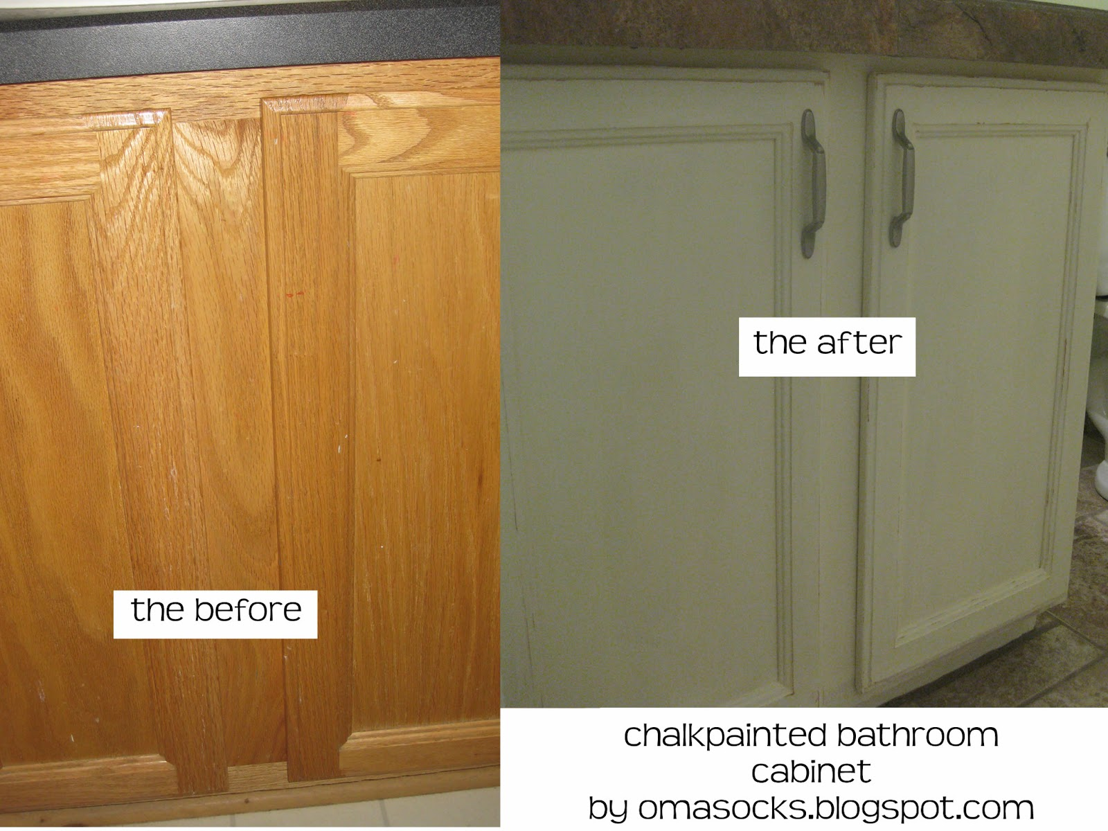 Bathroom Vanity Painted Before and After