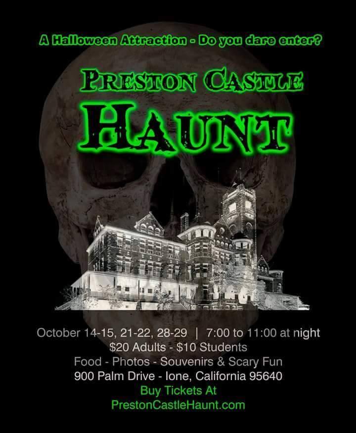 Preston Castle Haunt - Fri & Sat in Oct