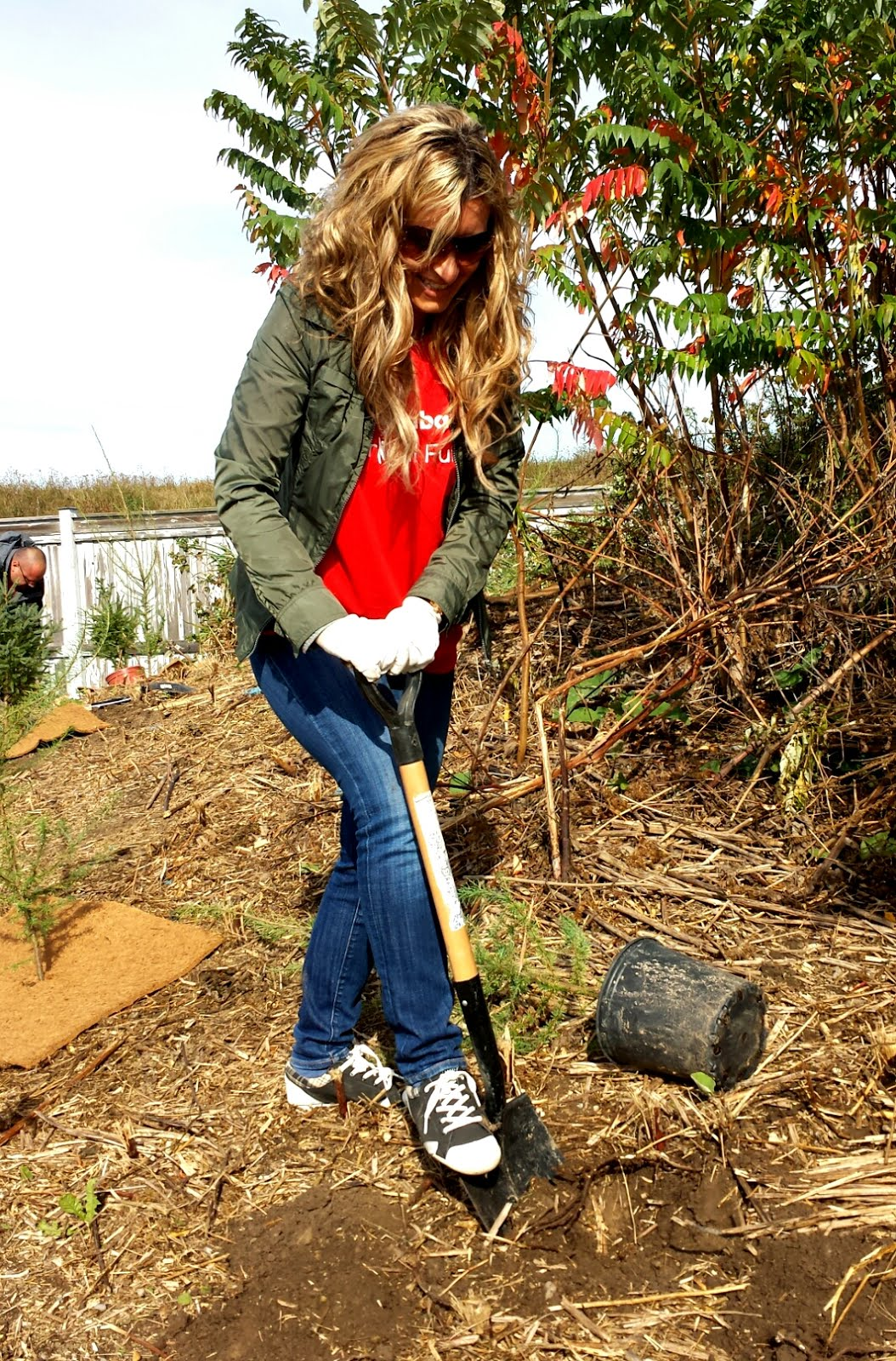 "Planting trees for Scotiabank ""Branching Out"" Program"