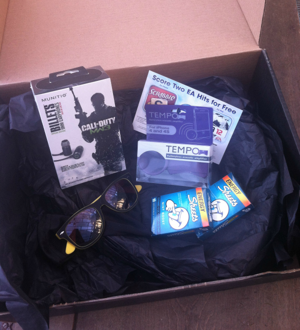 12 Society #boxtwo Review - August 2012 - Monthly Subscription Box
