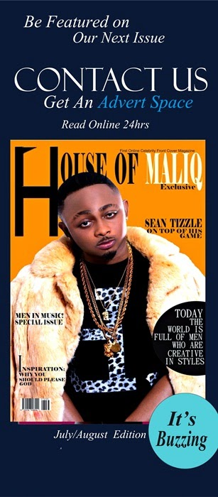 Sean Tizzle and Abbyke Domina stuns on HOUSE OF MALIQ July/August 2014 edition