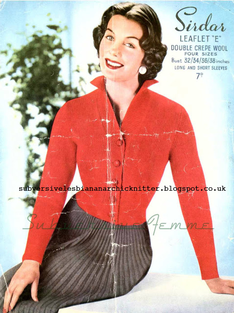 Free knitting Pattern for a 1950's Sirdar Lady's Short Jacket