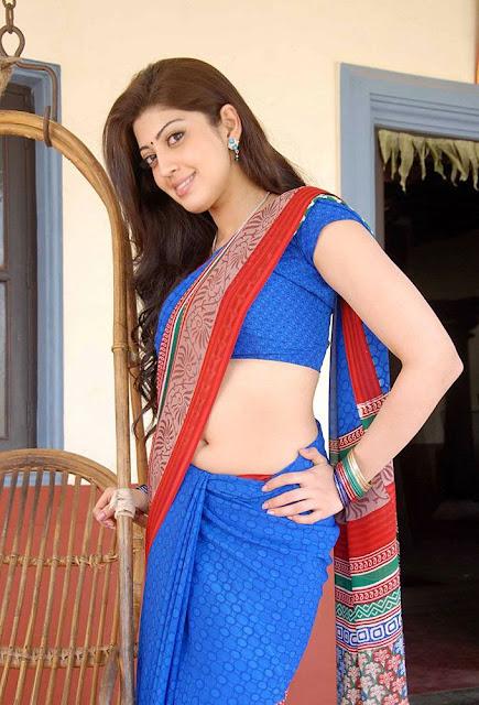 Actress Pranitha Saree below Navel show Photos