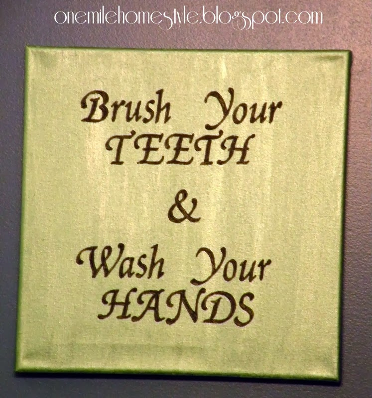 Brush Your Teeth & Wash Your Hands - Bathroom Art