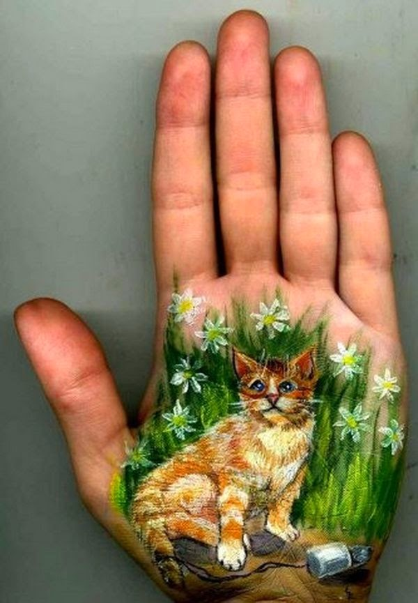 Cute Hand art by Svetlana Kolosova