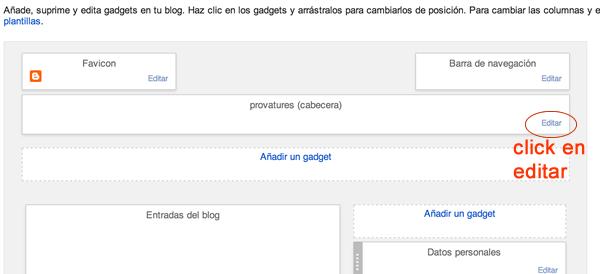 cambiar cabecera del blog