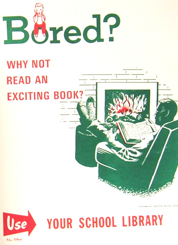 1960s: School Library Posters open your book
