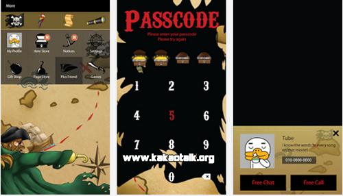 Nuevo diseño Pirates KakaoTalk Theme gratis