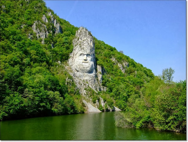 Statue of Decebal in Romania