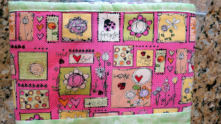 border fabric used for a girl quilt
