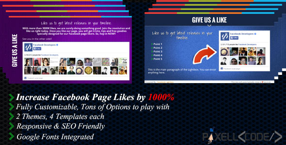 Free Download Facebook Lightbox Boost Your Facebook Likes Wordpress Plugin