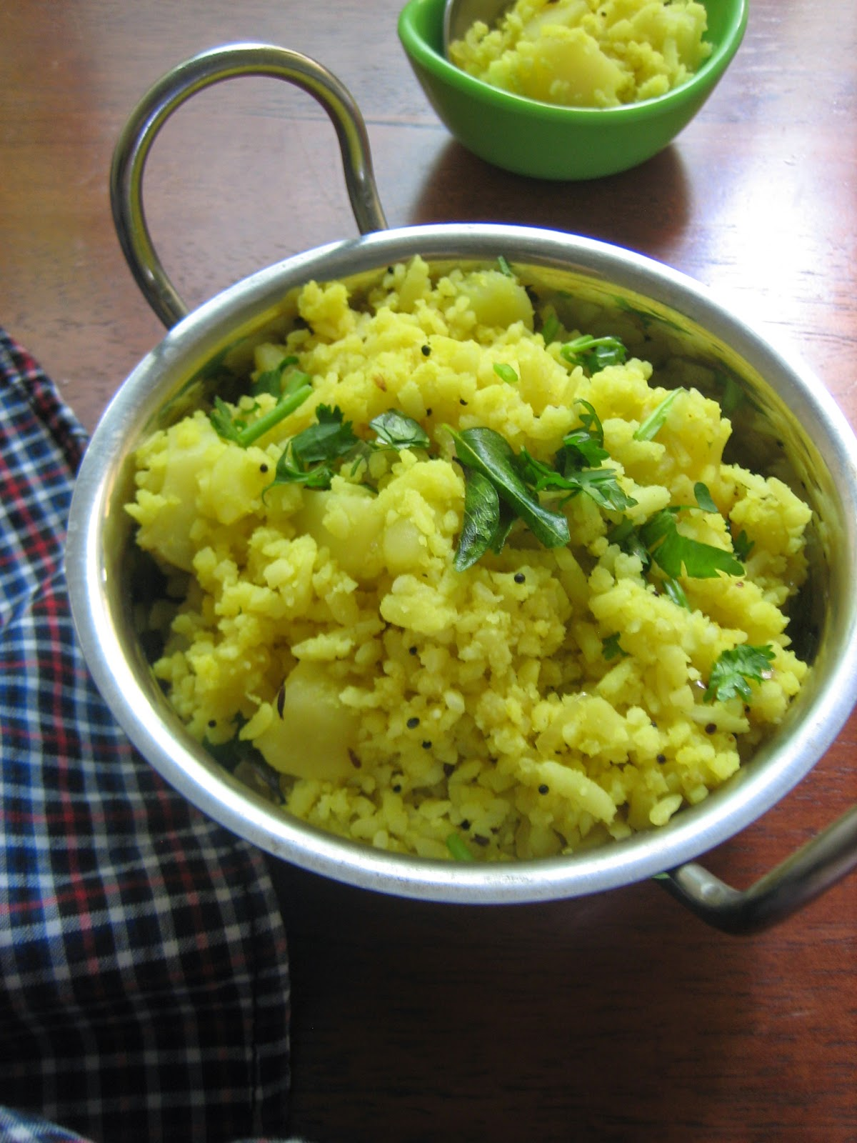 poha with potatoes 2