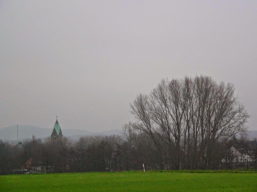 Dortmund Grevel Lanstrop Landmarke Spaziergang Winter Sonntag Feld Dorf Kirche