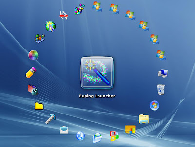 Eusing Launcher , desktop organiser , icon organiser, freewares , windows softwares,