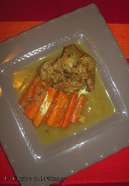 tajine de veau aux carottes et citrons confits