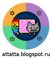 Пользовательское меню в стиле Nyan Cat на css 3